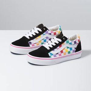 VANS Little Kid Checkerboard Old Skool Sneaker